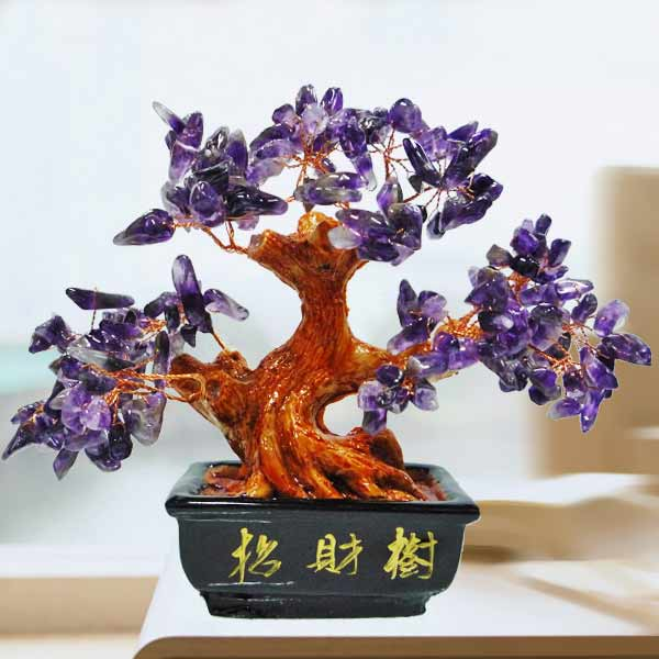 Purple Amethyst Crystal Tree 15cm Height