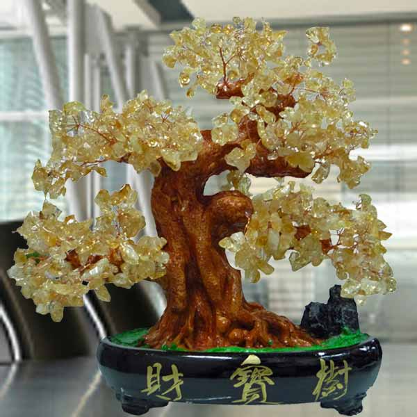 CITRINE Crystal Bonsai Tree H30cm