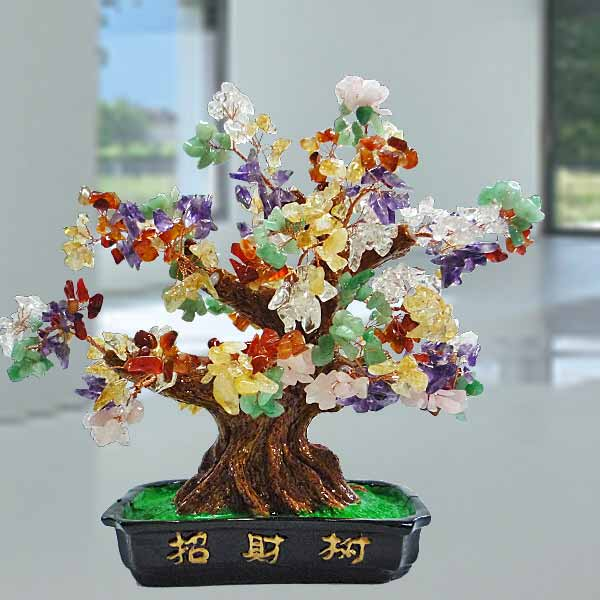Multi-Crystal Wish-fulfilling Gem Tree 20cm Height