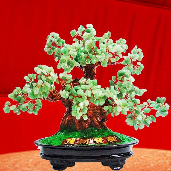 Jade Gemstone Bonsai Tree 30cm Height