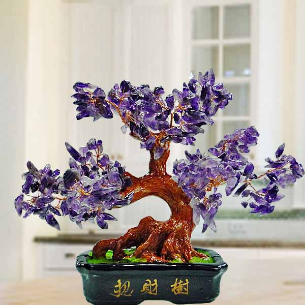 Purple Amethyst Crystal Tree 20cm Height