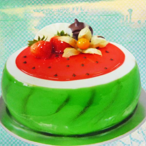 Add-On Watermelon Shape Sponge Cake 1kg