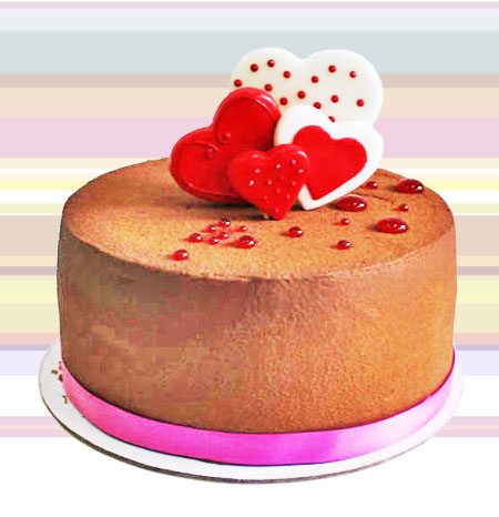 Strawberry Chocolate Cake ( 6 inch round 750gm)