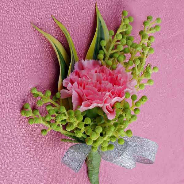 Pink Carnation Boutonniere ( Add-On Only, No Delivery )
