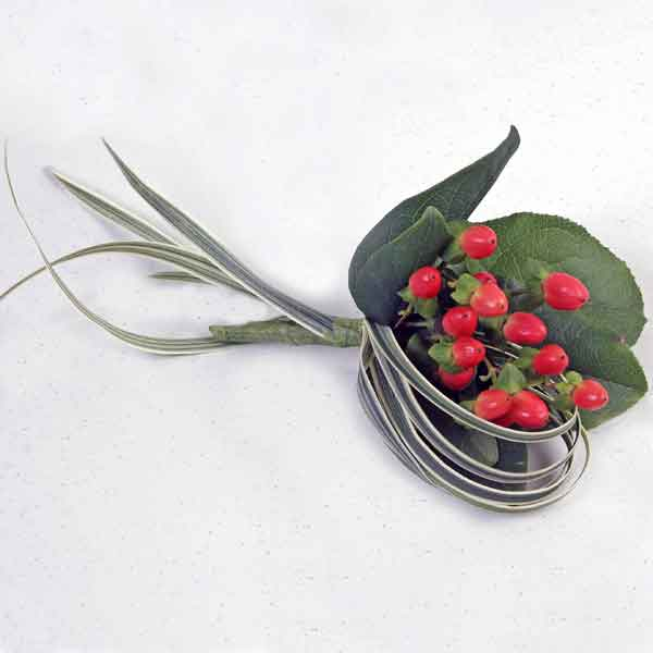 Hypericum Berries Boutonniere ( Add-On Only, No Delivery )