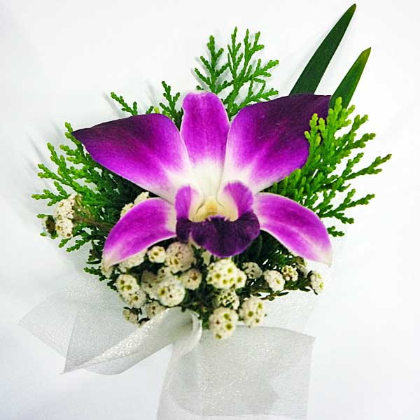 Orchid Boutonniere ( Add-On Only, No Delivery )