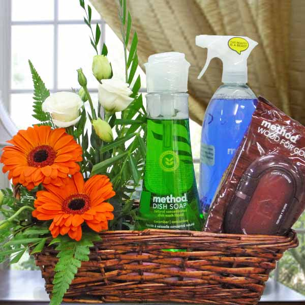 Method® Cleaning Products Gift Basket & Flowers