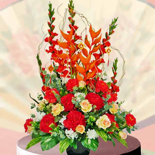 Chinese New Year Artificial Flowers Arrangement