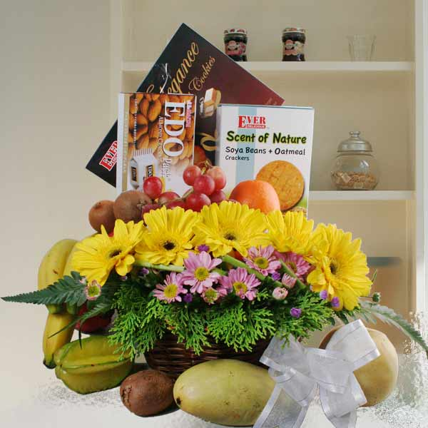 Fruits, Flowers & Food Basket