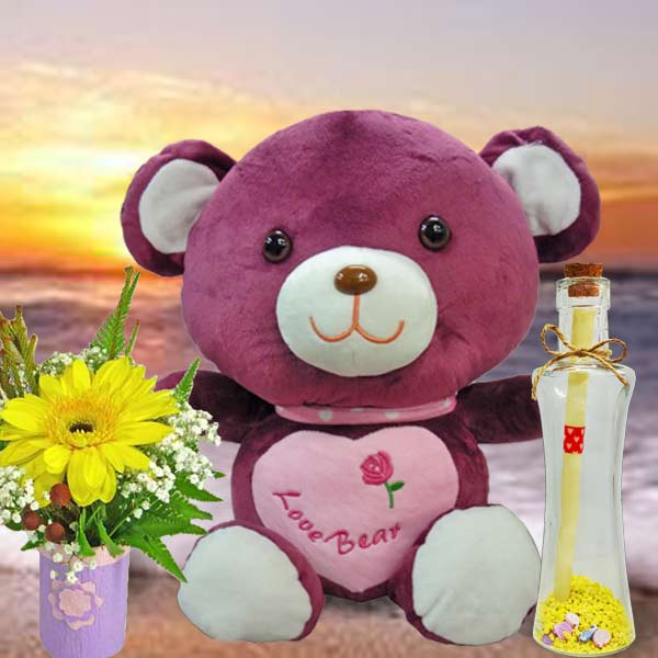 Message-in-Bottle/Bear/Flowers