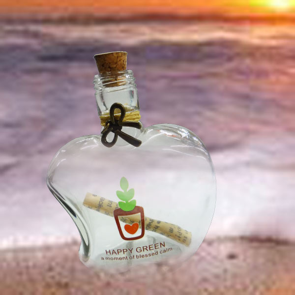 Message in a Bottle (Apple Shape)