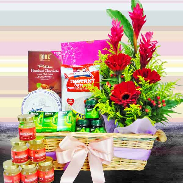 Red Gerbera Tonic Hamper