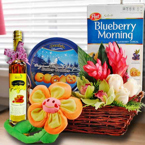 Honey & Flowers Gifts Basket