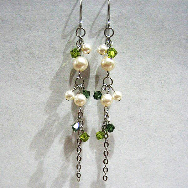 Add-on Ear Rings - Elegant-E Green