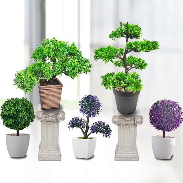 5 Mini Artificial Plants.