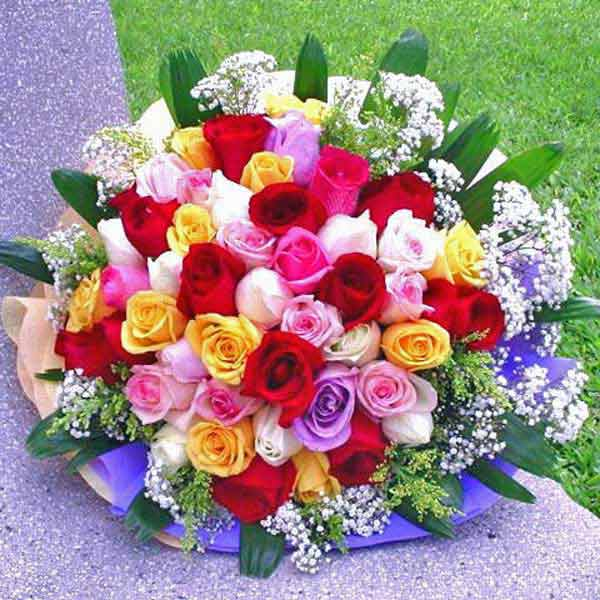 36 Mixed Roses Handbouquet