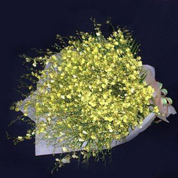Golden Shower Orchid Handbouquet.Kindly order 1 day in advance
