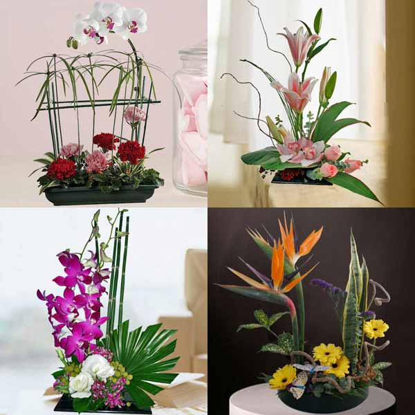 4 Fresh Flowers Table Arrangement Package 2