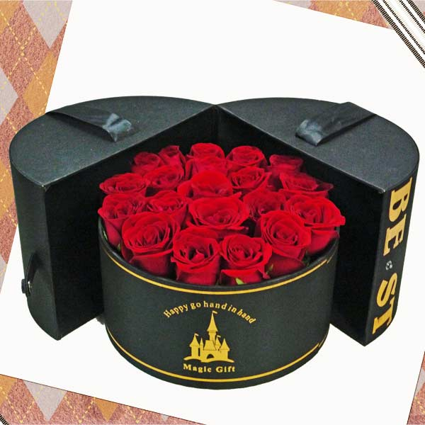 20 Red Roses in Nice Round Box