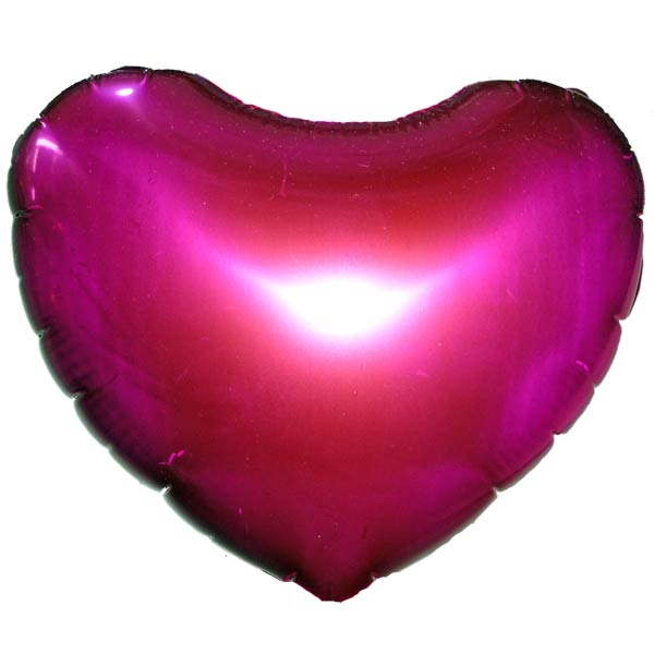 Add-on 9 inches hot-pink foil balloon