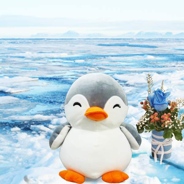 Blue Rose & Penguin 10 inches