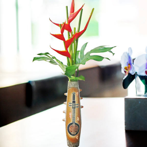 2 Heliconia Flowers in Special Vase