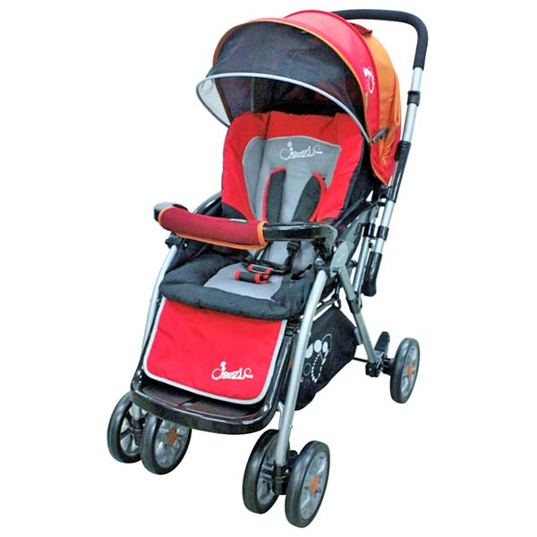 DAZZLE Baby Stroller Reversible - Red