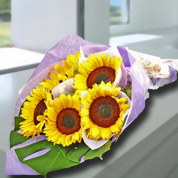 5 Sunflower Handbouquet