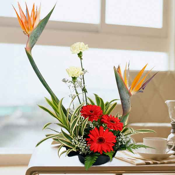Bird of Paradize Table Arrangement