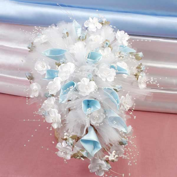 Wedding Car Blue Flowers decoration ( Pls Call Us )