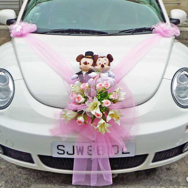 Wedding Car Decoration ( Soft Toy Not Included )