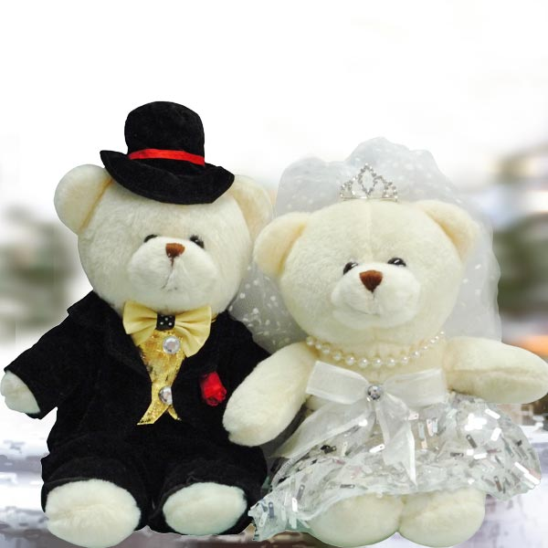 16cm Couple Wedding Bear WDB009d