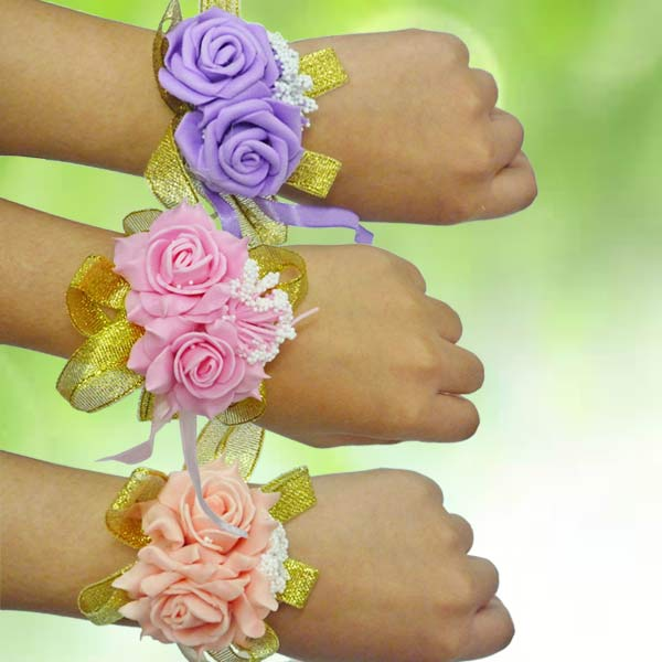 Add-On Artificial Roses Wedding Wristlet (Pls Choose One)
