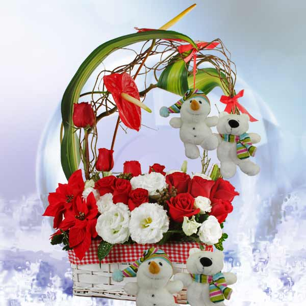 Christmas Flowers Arrangement Delivery