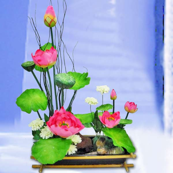 Artificial Lotus - Ikebana 50cm Height